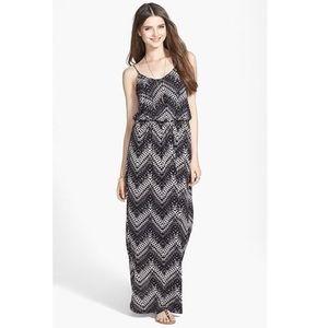 Lush Aztec Knit Maxi Dress